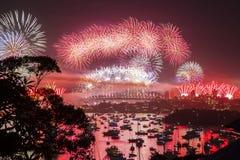 Nowego Roku ` s wigilii fajerwerk Zdjęcia Royalty Free