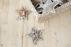 Nowego Roku ` s zabawki gwiazdy Zdjęcia Royalty Free