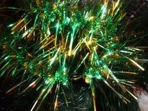Nowego Roku ` s zespołu dekoracyjna zieleń, złoty i Obrazy Stock