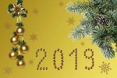 Nowego Roku skład, gratulacje na wakacje zdjęcia royalty free