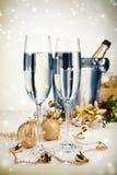 Nowego Roku szampan Fotografia Stock