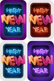 Nowego roku szczęśliwy Set Zdjęcie Royalty Free