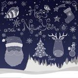 Nowego roku szczęśliwy Set Obraz Stock