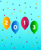 Nowego roku szczęśliwy Wektor 2013 Zdjęcia Royalty Free