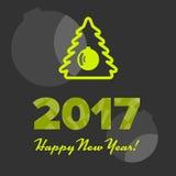 Nowego roku sztandar Obrazy Stock