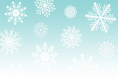 Nowego Roku sztandar z płatkami śniegu Obraz Stock