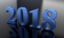 Nowego Roku tła błękitny writing, 3d rendering Zdjęcia Stock