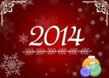 Nowego Roku 2014 tło Obrazy Stock