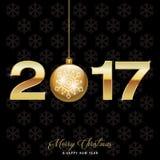 Nowego Roku tło 2017 Obrazy Stock