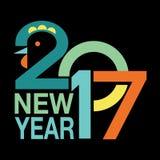 Nowego Roku tło 2017 Obrazy Royalty Free