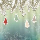 Nowego Roku tła wakacyjny drzewo. + EPS8 Obrazy Stock