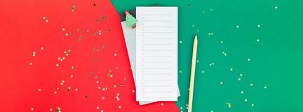 Nowego Roku todo listy wydarzenia planisty Bo?enarodzeniowy mockup fotografia royalty free