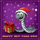 Nowego Roku Wąż. Kartka Z Pozdrowieniami. ilustracja wektor