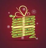 Nowego roku węża prezenta pudełka karty tło Zdjęcia Stock