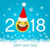Nowego roku 2018 wektorowy kartka z pozdrowieniami Obrazy Royalty Free