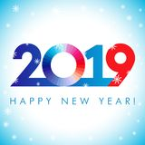 2019 nowego roku xmas Szczęśliwych powitań royalty ilustracja