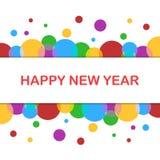 2019 nowego roku xmas Szczęśliwych powitań Wakacje barwiący tło, bąbla kształta wzór ilustracja wektor