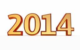 Nowego Roku 2014 złocista tekstura Zdjęcia Royalty Free