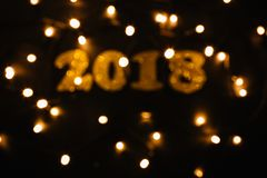 Nowego roku 2018 złota dekoracja Obraz Stock