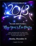 Nowego Roku 2018 zaproszenie royalty ilustracja