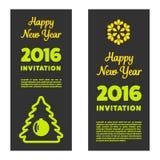 Nowego roku zaproszenie 2016 Zdjęcie Stock