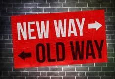 Nowego sposobu Stary sposób obraz stock