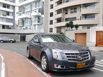 nowego warunku Cadillac CTS sedan parkujący w Lima Zdjęcie Royalty Free