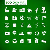 nowej ekologii 2 ikony Obraz Stock