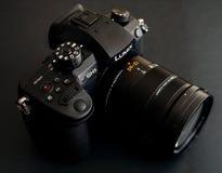Nowej Panasonic Lumix GH5 i Leica 12-60 kamery obiektyw Obrazy Royalty Free