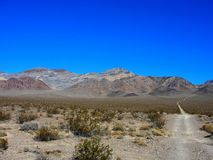 Nowhere, Nevada - December 05 2017: Painted hill stock photo