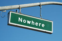 Nowhere sign Stock Image