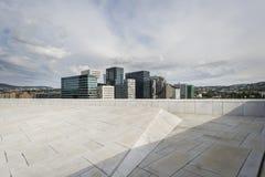Nowi bloku mieszkaniowego Barcode budynki w Oslo Fotografia Stock