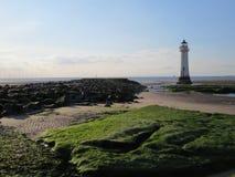 Nowi Brighton brzeg, latarnia morska i Obrazy Royalty Free