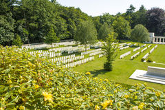 Nowi Brytyjscy Cmentarniani wojny światowa 1 Flanders pola obraz stock