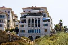 Nowi budynki na Jaffa ulicach Obraz Stock