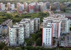 Nowi budynki w przedmieściu w Vilnius obraz royalty free