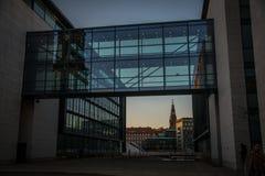 Nowi budynki w schronienie terenie w Kopenhaga Dani zdjęcie stock