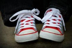 Nowi buty, chłopiec obrazy stock