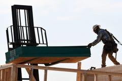 Nowi Domowi budowa schodki W południowych zachodach Zdjęcia Stock