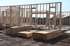 Nowi Domowi budowa schodki W południowych zachodach Obraz Stock