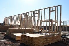 Nowi Domowi budowa schodki W południowych zachodach Fotografia Stock