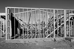 Nowi Domowi budowa schodki W południowych zachodach Obraz Royalty Free