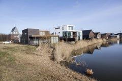 Nowi domy w homerus buurt w Almere Poort w holandiach Zdjęcia Stock