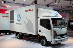 Nowi Elektryczni Nissan E-NT400 obraz stock