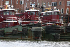 nowi England tugboats Zdjęcie Royalty Free