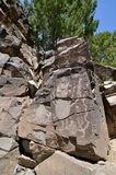 nowi Galisteo petroglify Mexico Obraz Stock
