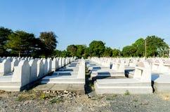 Nowi gravestones Chantaburi, Tajlandia Zdjęcie Stock