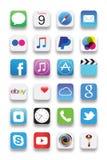Nowi Iphone apps Zdjęcie Stock