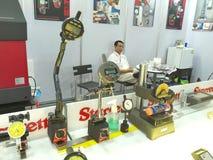 nowi mierzy narzędzia w Asiean metallex bitec 2014 bangna, Bangkok Zdjęcia Royalty Free