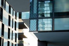 Nowi moda budynki w Porta Nuova terenie Mediolan, abstrakt Zdjęcia Royalty Free